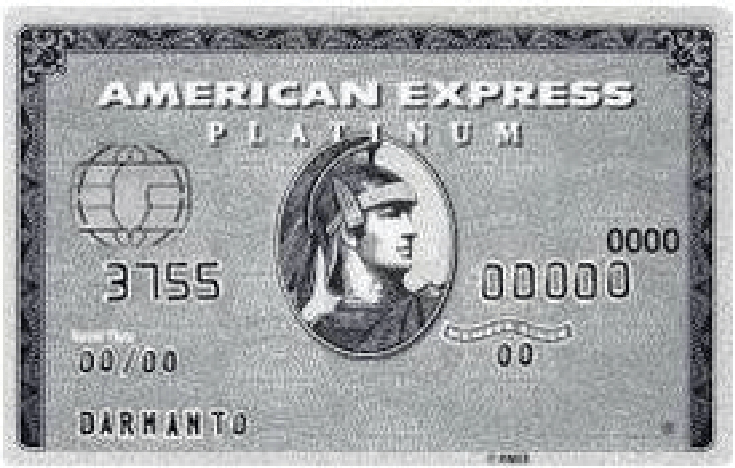 アメックスプラチナカードの券面